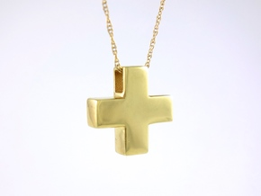 Solid Plus Pendant in 14k Gold Plated