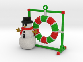 Agility Tire Christmas Ornament in Full Color Sandstone
