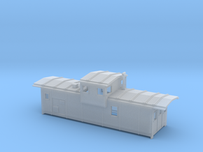 DMIR Caboose Early (no floor) - Nscale in Frosted Ultra Detail