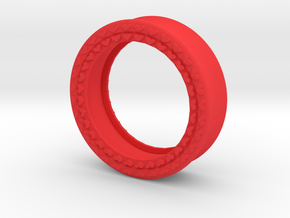 VORTEX8-35mm in Red Strong & Flexible Polished