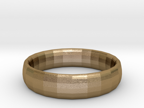 plain Ring Size 22x22 in Polished Gold Steel
