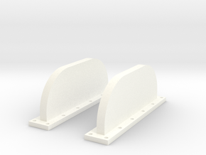 Apollo SM 1:24 Fins in White Strong & Flexible Polished