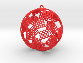 Checkers Ornament in Red Strong & Flexible Polished