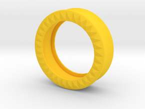 VORTEX9-34mm in Yellow Strong & Flexible Polished