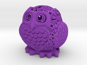 Stelliform Owl in Purple Strong & Flexible Polished