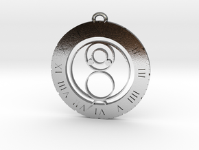 Jake - Pendant in Polished Silver