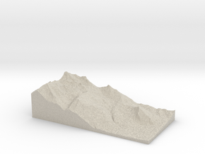 Model of Ovronnaz in Sandstone