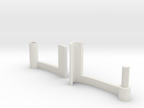 15° adjustable phone-stand for iPhone and Android in White Strong & Flexible