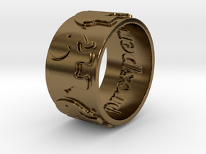Prosperity Ring Size 7 in Polished Bronze