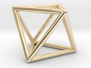 Vega Frame Single in 14K Gold