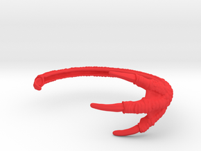3D Printed Dragon Claw Bracelet in Red Strong & Flexible Polished