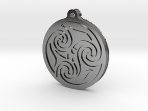 Pagan pendant in Polished Silver
