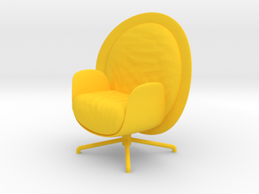 ZON Lounge Chair by RJW Elsinga 1:10 in Yellow Strong & Flexible Polished