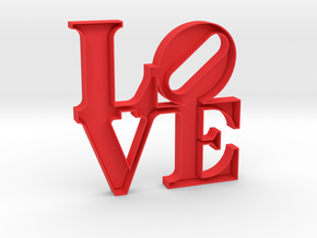 The Love Sculpture 15cm  in Red Strong & Flexible Polished