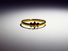 Elleve Ring US Size 8 5/8 UK Size R in 18K Gold Plated