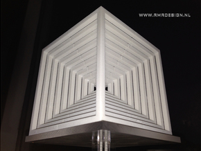 Hypercube Impossible Cube sculpture Large in White Strong & Flexible