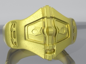 Chevalier Ring 2 in Polished Bronze Steel