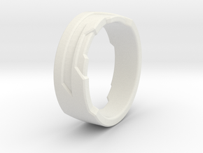Ring Size H in White Strong & Flexible