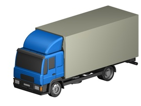 Koffer-LKW / box truck (Z, 1:220) in Frosted Ultra Detail