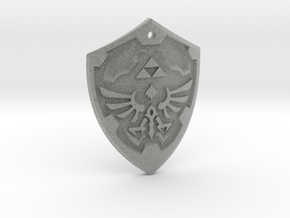 Hylian Shield - Legend of Zelda in Metallic Plastic