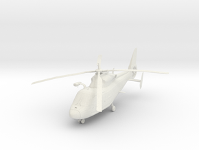 Helicopter in White Strong & Flexible