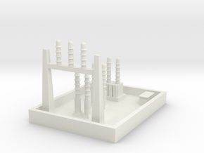 1/600 Small Power Substation in White Strong & Flexible