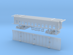 HO scale 1855 vintage passenger coach kit in Frosted Ultra Detail