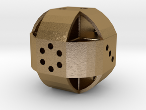 Dice90 in Polished Gold Steel