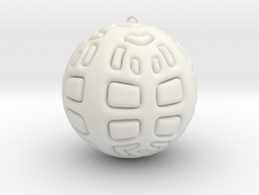 Christmas Tree Ornament #2 in White Strong & Flexible