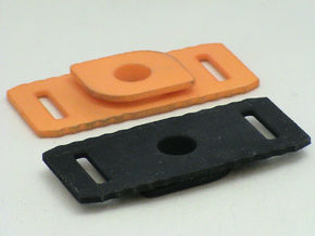 Track Connector uses Hook/Loop, Hot Wheels Compat. in White Strong & Flexible