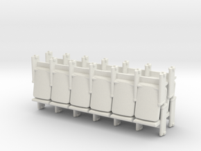 6 x 4 Theater Seats HO Scale in White Strong & Flexible