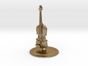 Violin in Polished Gold Steel