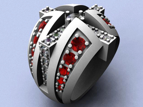 Naughty and Nice Ring - Size 11 1/2 (21.08 mm) in Raw Silver