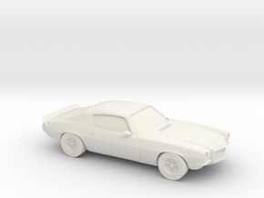 1/87 1972 Chevrolet Camaro Z28 in White Strong & Flexible
