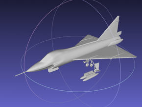 1/144 TF-102 Delta Dagger in Frosted Ultra Detail