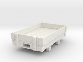 Gn15 small 5ft  1 plank wagon  in White Strong & Flexible