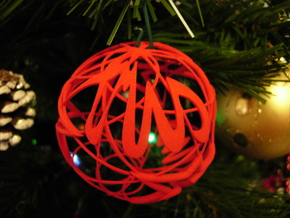 X-mas IV - Cross of Stars - Christhmas Ball in Red Strong & Flexible Polished