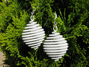 Spiral 5 Earrings in White Strong & Flexible