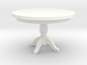 Miniature 1:48 Kitchen Table in White Strong & Flexible Polished