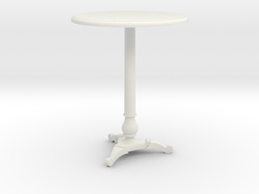 Miniature 1:24 Cafe Table in White Strong & Flexible