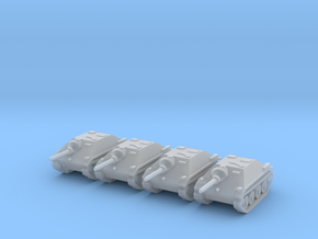 6mm Hetzer tank hunters (4) in Frosted Ultra Detail