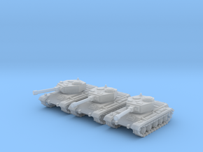 6mm WW2 tank (3) in Frosted Ultra Detail