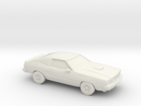 1/87 1976 Ford Mustang Cobra in White Strong & Flexible