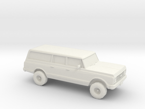 1/87 1972 Chevy Suburban in White Strong & Flexible