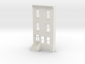 S SCALE ROW HOME FRONT 3S  in White Strong & Flexible