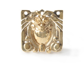Eagle Deco Pendant in Polished Brass