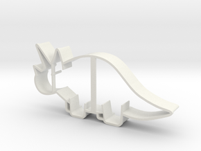 Triceratops Cookie Cutter in White Strong & Flexible