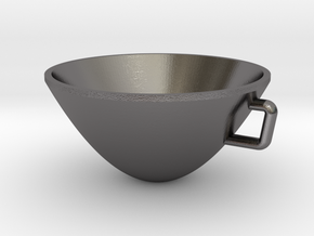Parabolic Cup in Polished Nickel Steel