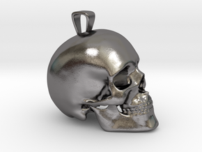 Skull Pendant in Polished Nickel Steel