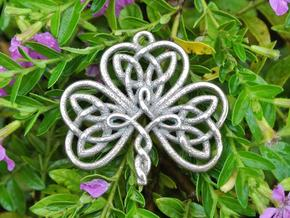 Shamrock Knot Pendant 1.25 Inch in Stainless Steel